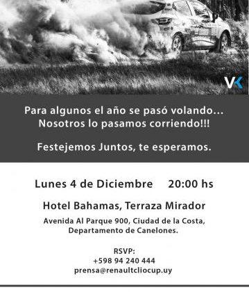 Llega la fiesta de fin de año de Renault Clio Cup Uruguay